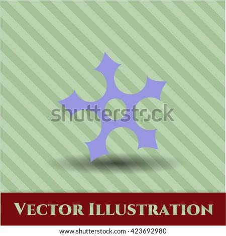 ninja star icon or symbol