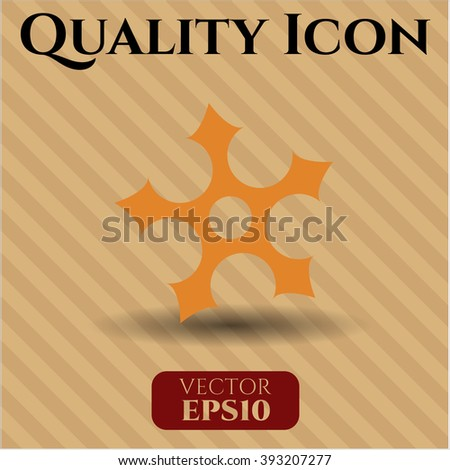 ninja star icon vector