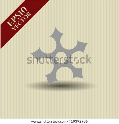 ninja star icon vector symbol flat eps jpg app web concept