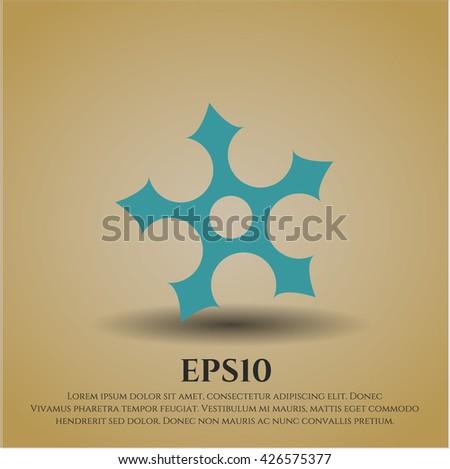 ninja star icon vector symbol