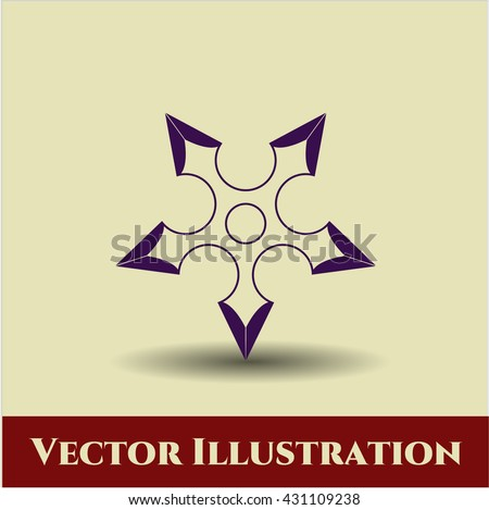 ninja star icon vector symbol