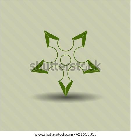ninja star vector icon