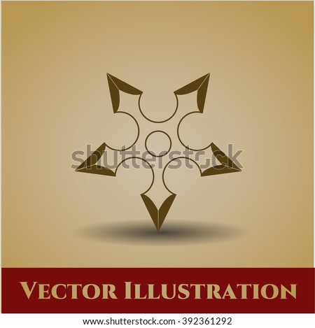 ninja star vector symbol