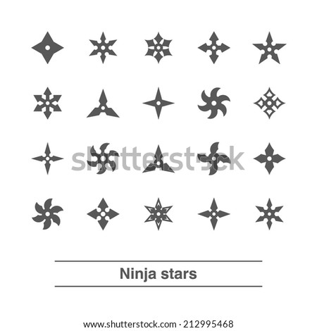 Ninja Stars Vector Ninja Stars Set