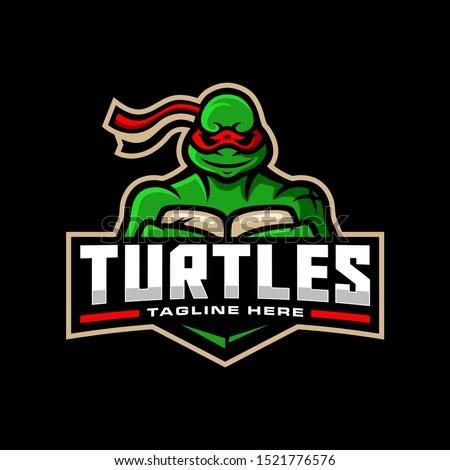 ninja turtles mascot logo for