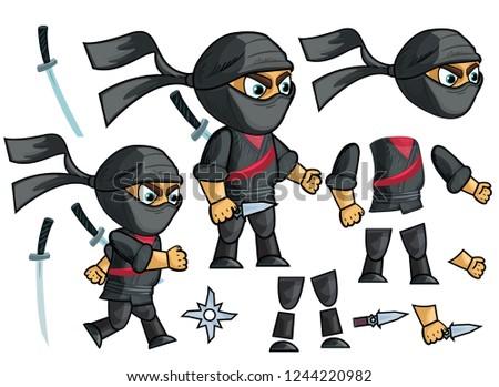 ninja vector animated