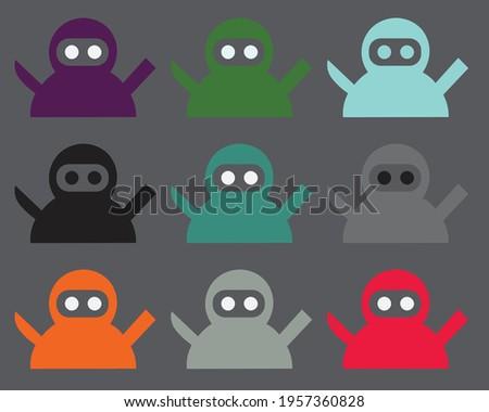 ninja vector   ninjas