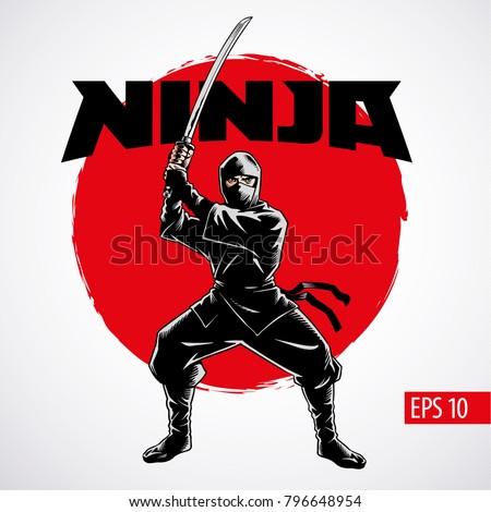 ninja warrior vector
