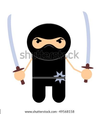 Ninjas with swords