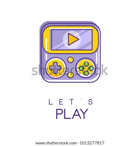 nintendo game logo in line