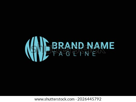 NNE initial letter logo and icon design template Stock fotó ©