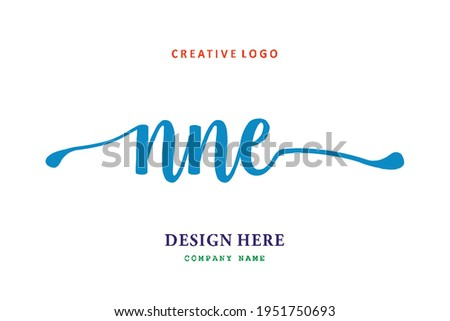 NNE lettering logo is simple, easy to understand and authoritative Stock fotó ©