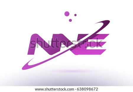 nne n n e  alphabet letter logo combination purple pink creative text dots company vector icon design template Stock fotó ©