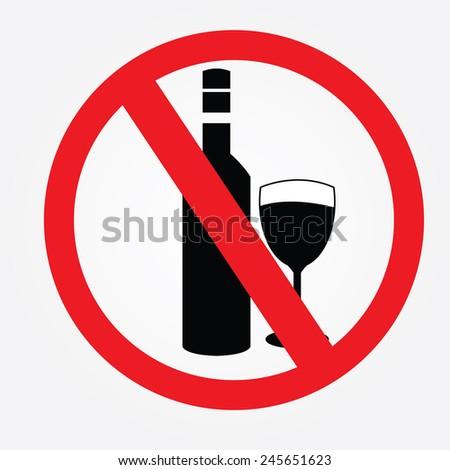 no alcohol drinks prohibits
