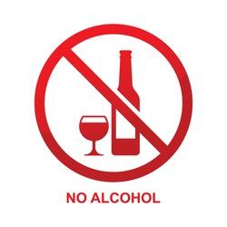 No alcohol sign vector illustration.