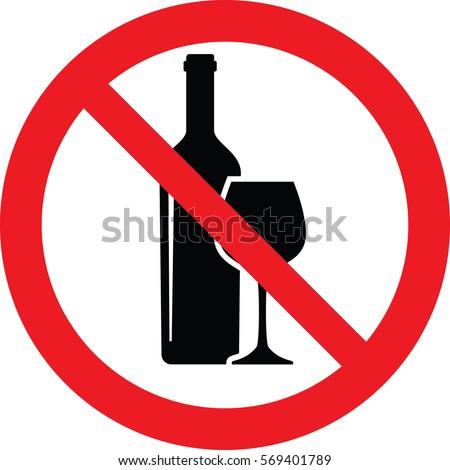 no alcohol sing vector