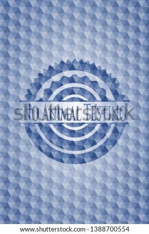 no animal testing blue emblem
