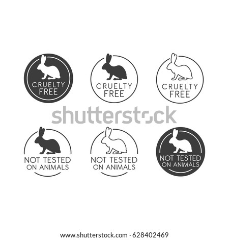 No animals testing icon design. Animal cruelty free symbol. Can be used as sticker, logo, stamp, icon. Vector illustration
