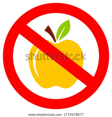 no apples  please do not feed
