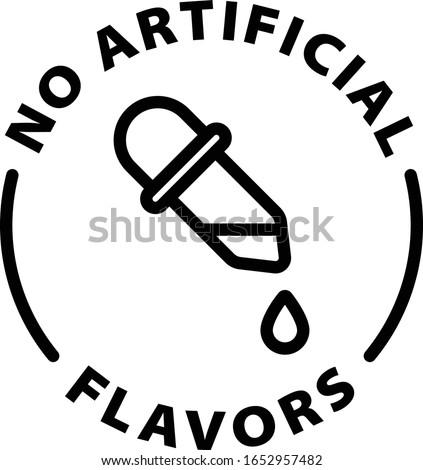 no artificial flavors outline icon Stock photo ©