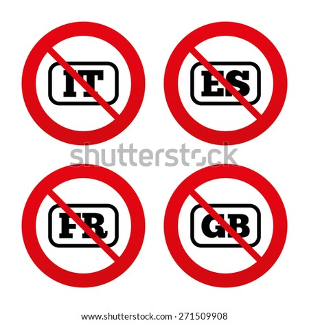 Stop Signs in Spain no Ban or Stop Signs