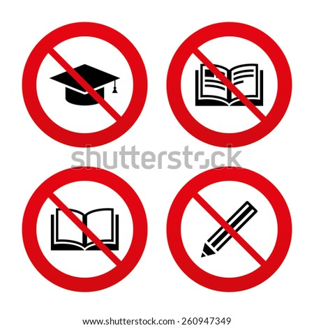 no  ban or stop signs pencil
