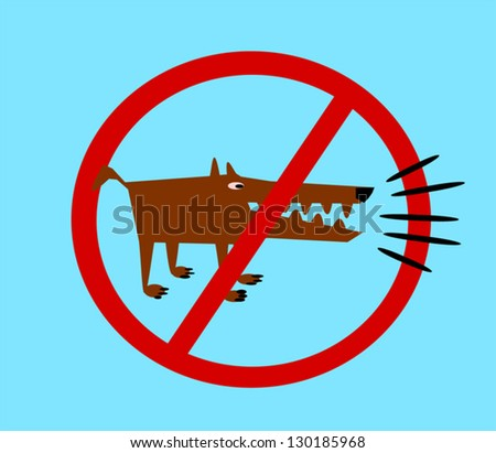 no barking dogs symbol - stock vector