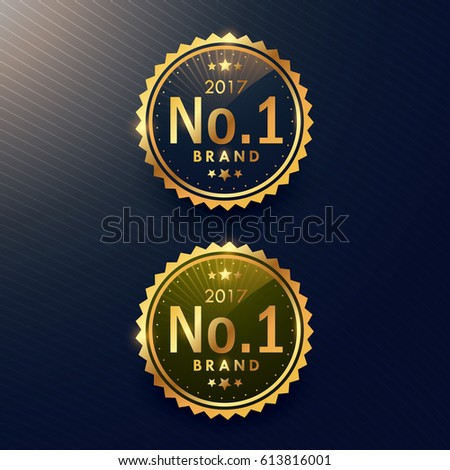 Shutterstock no.1 brand golden label and badge design