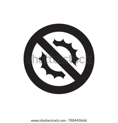 no brightness icon illustration isolated vector sign symbol