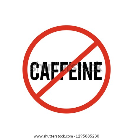 no caffeine icon vector. Linear style sign for mobile concept and web design. no caffeine symbol illustration. Pixel vector graphics - Vector.