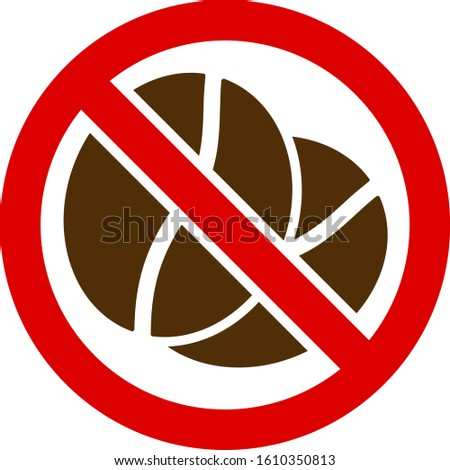 No caffeine vector icon. Flat No caffeine symbol is isolated on a white background.