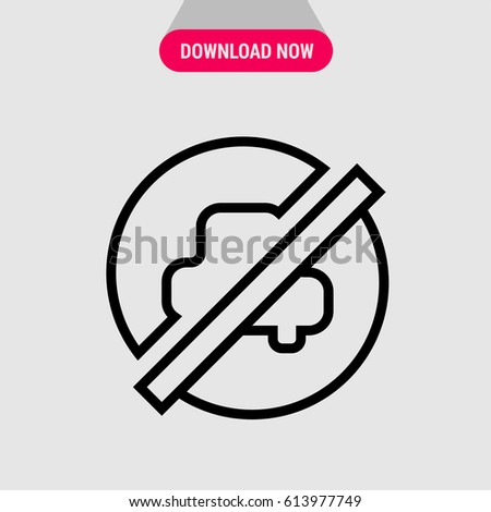 no car vector icon  parking