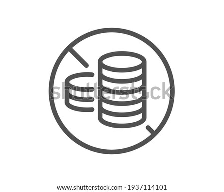 No cash line icon. Tax free sign. Vector Photo stock ©