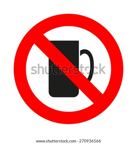 no coffee cup icon great for