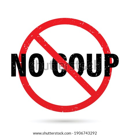 No coup sign. Vector illustration Photo stock ©