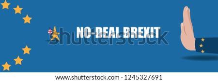 No deal Brexit design. Eps10 vector illustration.
