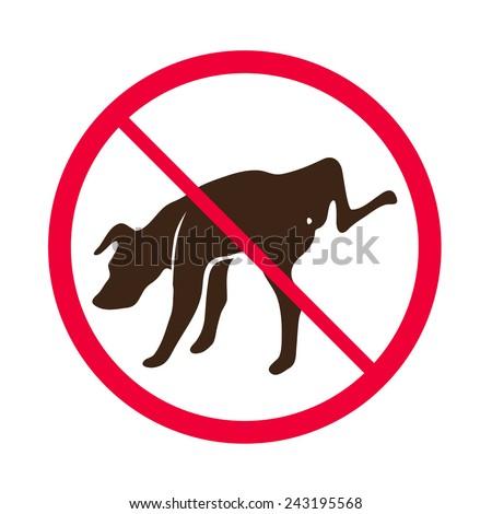 no dog peeing    vector   no