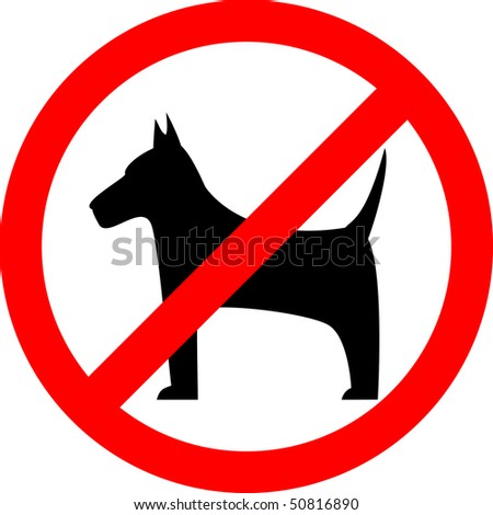 No dogs sign, vector