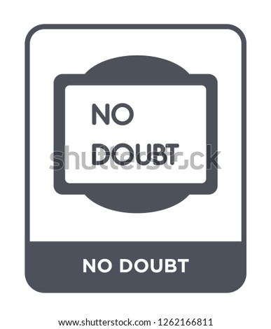 no doubt icon vector on white