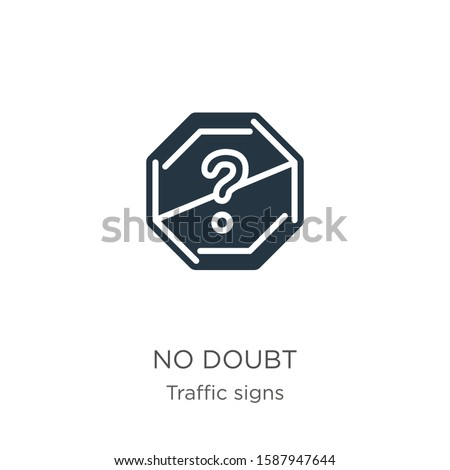 no doubt icon vector trendy