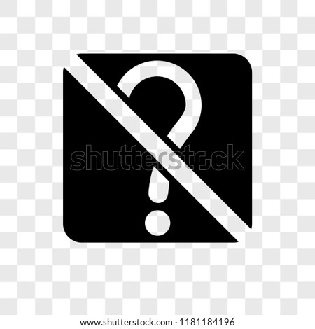no doubt vector icon isolated