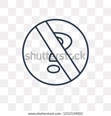 no doubt vector outline icon