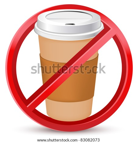 no drink or coffee allowed sign