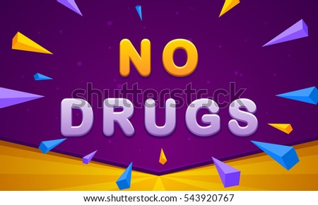 no drugs banner triangle