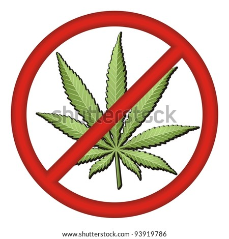 No Drugs Sign vector