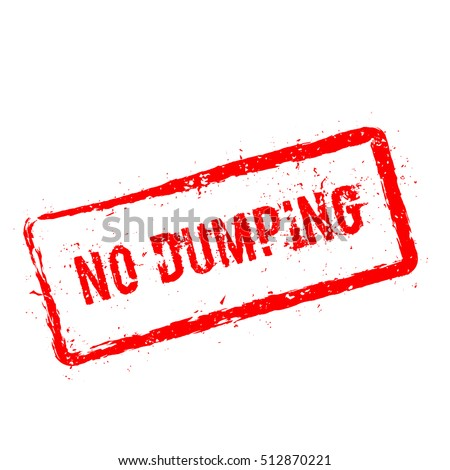 no dumping red rubber stamp