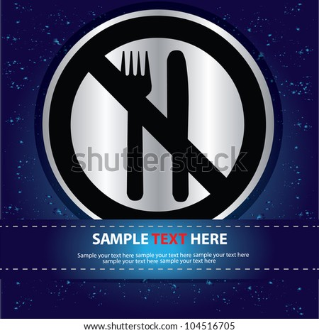 No eating,No food sign,Vector
