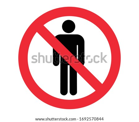 no entry restricted area vector illustration  Stock photo ©
