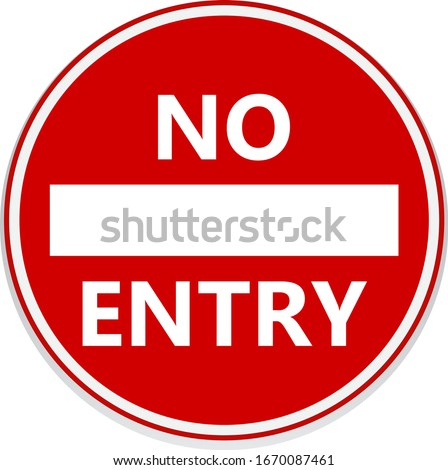No entry road signs. Vector design. Stockfoto ©