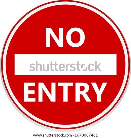 No entry road signs. Vector design. Stockfoto ©